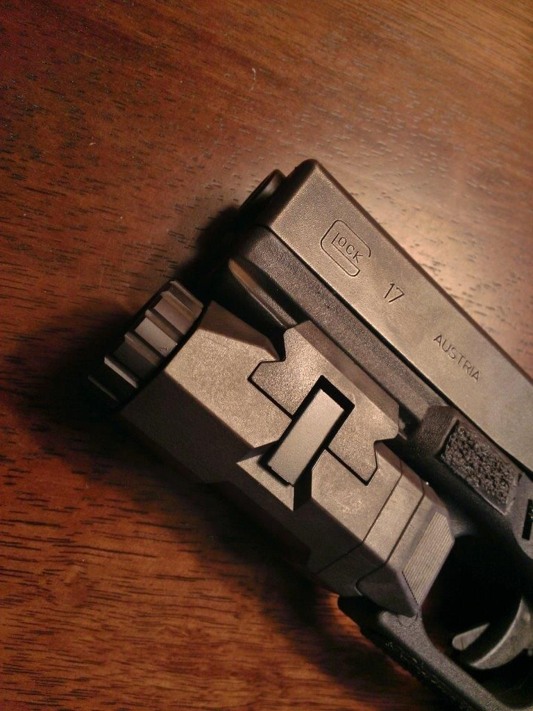 APL on a GLOCK 17. Notice the large toggle switches